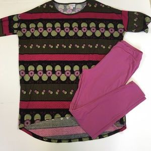 LULAROE  Leggings and Blouse